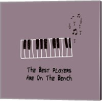 The Best Players Are On The Bench Purple Fine Art Print