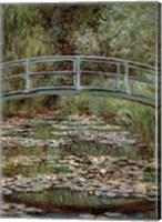 Waterlily Pond, Japanese Bridge Fine Art Print