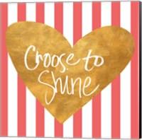 Heart on Stripes III Fine Art Print
