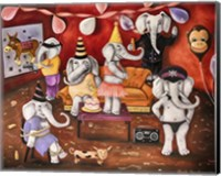 White Elephant Party Fine Art Print