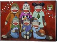 Sock Doll Family Portrait Fine Art Print