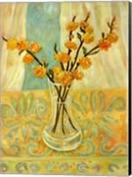 Orange Blossom On A Lemon Cloth Fine Art Print