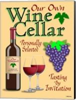 Our Own Wine Cellar Fine Art Print
