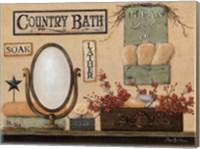 Country Bath - Soak, Lather Fine Art Print
