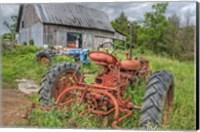 Tractors in Weeds Fine Art Print