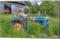 Blue Tractor Fine Art Print