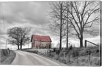 Springs Barn And Road BW Fine Art Print