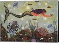 Purple Mermaid Fine Art Print