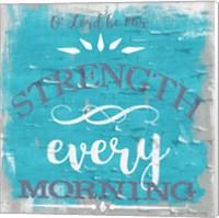 Be Our Strength Rustic Aqua Fine Art Print