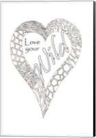 Heart Love Your Wild 2 Fine Art Print