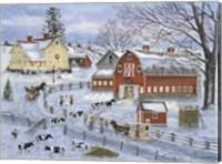 Dairy Farm at Christmas Fine Art Print