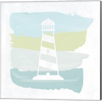 Seaside Swatch Lighthouse Fine Art Print