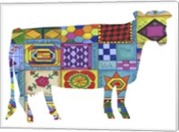Friendship Quilt Folk Art Cow Fine Art Print