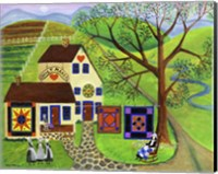 Amish Country Quilt Makers Fine Art Print