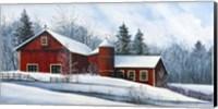 Red Barn Winter Fine Art Print