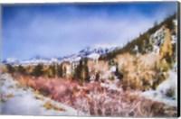 Winter Beginnings In Colorado Fine Art Print