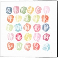 Watercolor Alphabet Fine Art Print