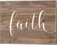 Rustic Faith Script Fine Art Print