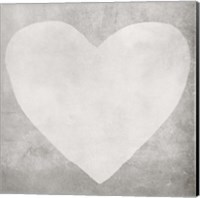 Dark Grey Heart Fine Art Print