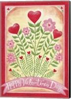 Valentines Day Happy Flowers Fine Art Print