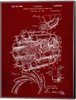 Aircraft Propulsion & Power Unit Patent - Burgundy Fine Art Print