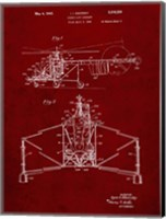 Direct-Lift Aircraft Patent - Burgundy Fine Art Print
