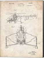 Direct-Lift Aircraft Patent - Vintage Parchment Fine Art Print