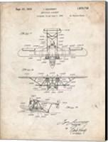 Amphibian Aircraft Patent - Vintage Parchment Fine Art Print