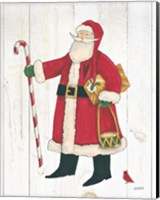 Vintage St Nick II no Words on White Wood Fine Art Print