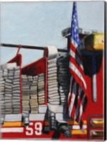 Engine 59 American Flag Fine Art Print