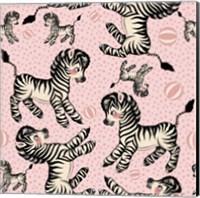 Cute Zebra Pattern Fine Art Print