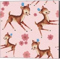 Cute Baby Deer Pattern Fine Art Print