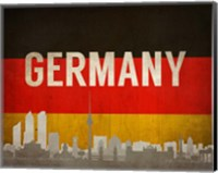 Berlin, Germany - Flags and Skyline Fine Art Print