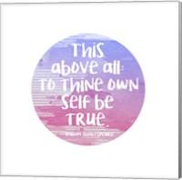 To Thine Own Self Be True Shakespeare Purple Fine Art Print