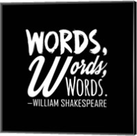 Words Words Words Shakespeare White Fine Art Print