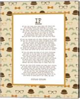 If by Rudyard Kipling - Retro Orange Fine Art Print