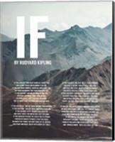If by Rudyard Kipling - Mountains Fine Art Print