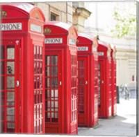 Covent Garden Phone Boxes Fine Art Print