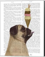 Pug, Fawn, Ice Cream Fine Art Print