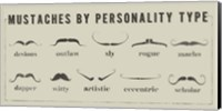 Mustaches Personalities Fine Art Print