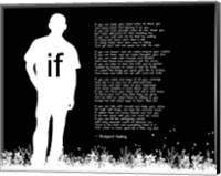 If by Rudyard Kipling - Man Silhouette Black Fine Art Print