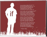 If by Rudyard Kipling - Man Silhouette Red Fine Art Print
