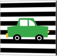 Green Car Fine Art Print