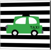 Bright Green Taxi Fine Art Print