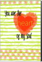 Key Lime Heart Fine Art Print