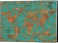 Rustic World Map Fine Art Print