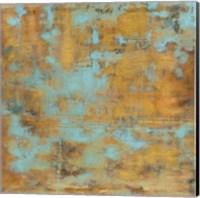 Rustic Elegance Sky Blue Fine Art Print