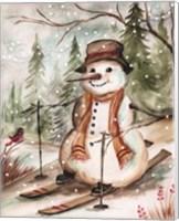 Country Snowman IV Fine Art Print