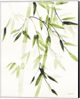 Bamboo Leaves V Green Fine Art Print