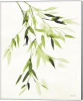 Bamboo Leaves IV Green Fine Art Print